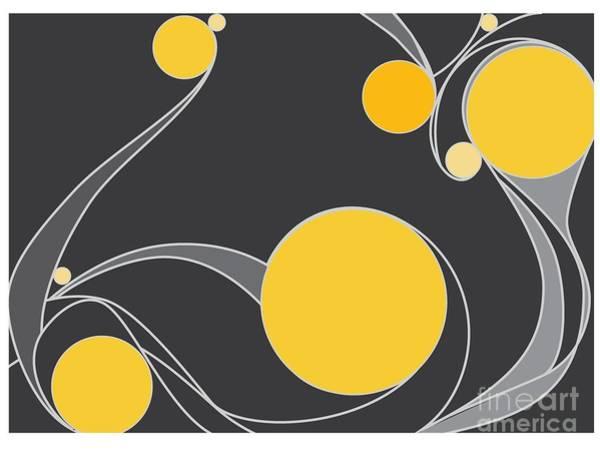 Digital Art - Yellow Circles Abstract Design by Patricia Awapara