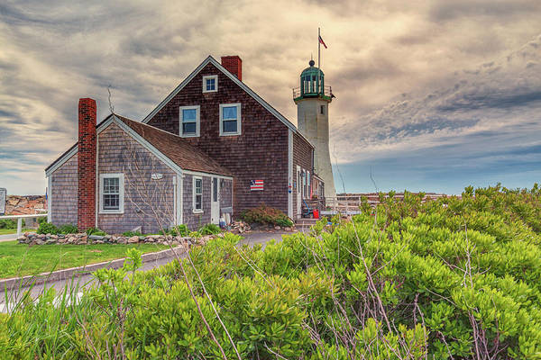 Photograph - Yellow Clouds Over Scituate Lighthouse by Brian MacLean