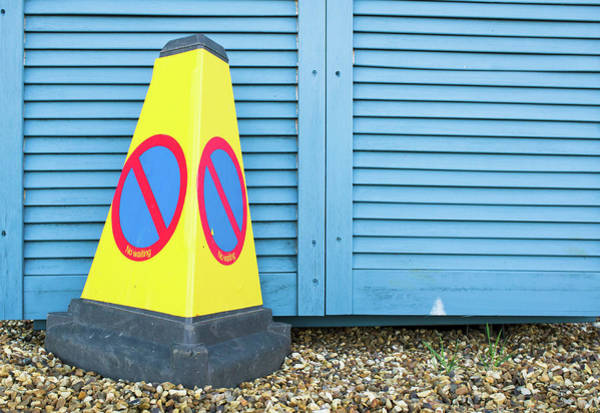 Restriction Photograph - Yellow Cone by Tom Gowanlock