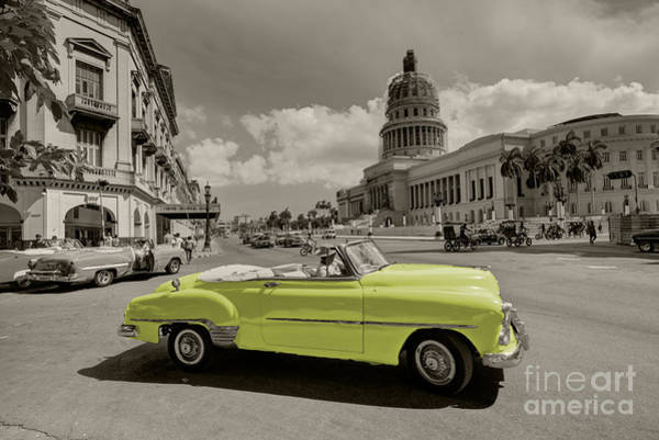 Wall Art - Photograph - Yellow Convertable  by Rob Hawkins