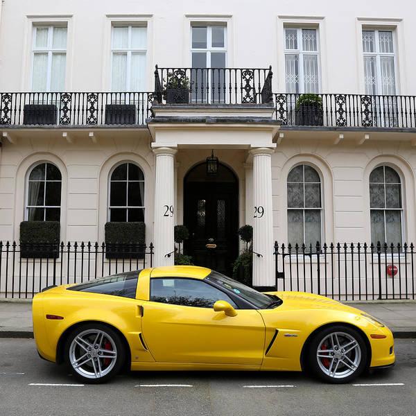 Photograph - Yellow Corvette 1 by Andrew Fare