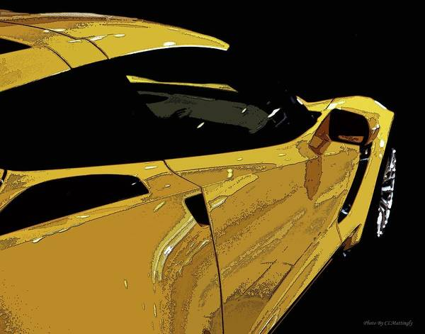 Photograph - Yellow Corvette by Coleman Mattingly