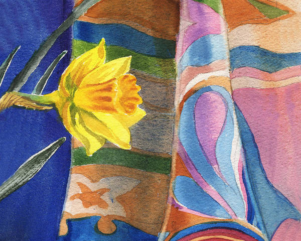 Painting - Yellow Daffodil Flower by Irina Sztukowski