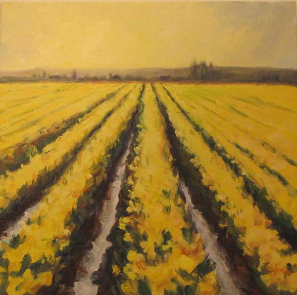 Wall Art - Painting - Yellow Daffodil Glow by Sylvia Carlton