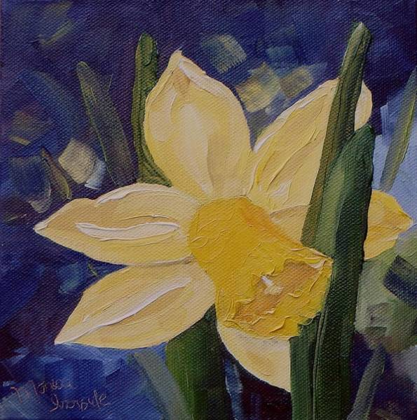 Painting - Yellow Daffodil by Monica Ironside
