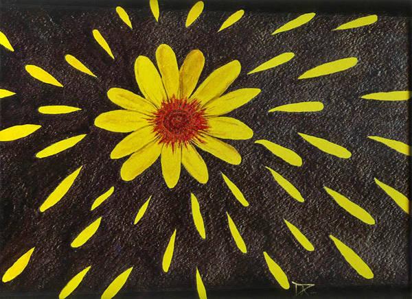 Painting - Yellow Daisy by Donald Paczynski