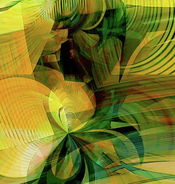Wall Art - Digital Art - Yellow Dance by Grace Iradian