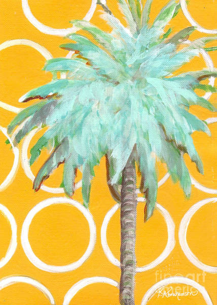 Yellow Delilah Palm Art Print
