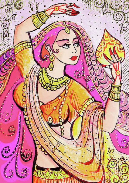 Wall Art - Painting - Yellow Devi by Eva Campbell
