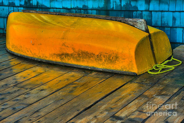Photograph - Yellow Dinghy by Adam Jewell