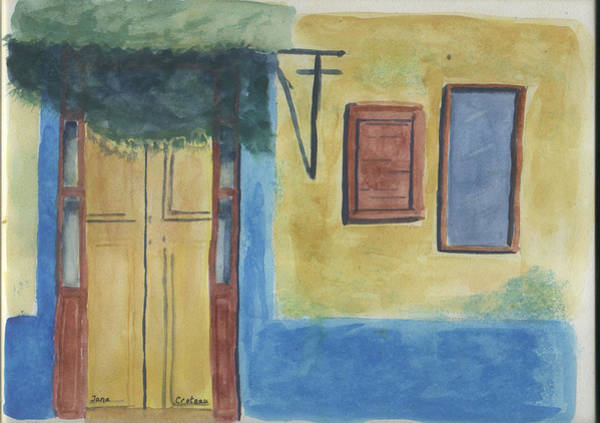 Painting - Yellow Door by Jane Croteau