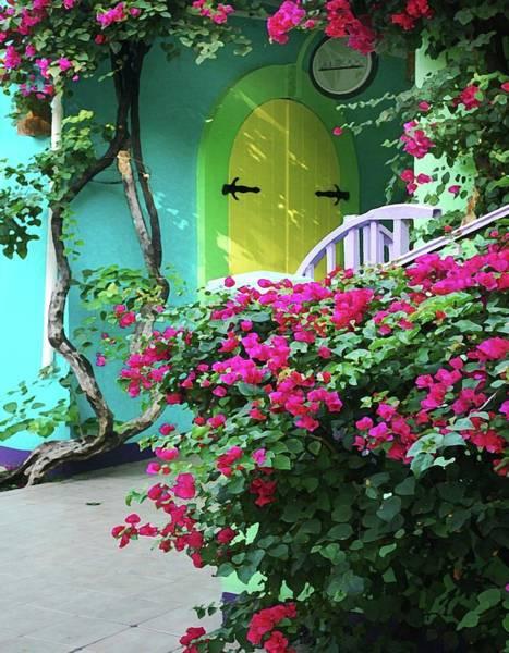 Pea Digital Art - Yellow Door by Michael Thomas