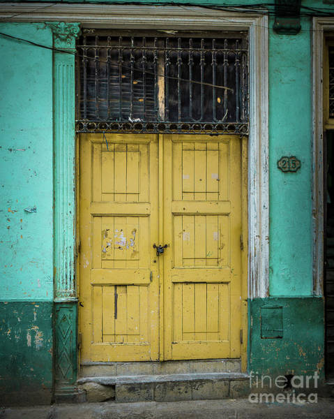 Wall Art - Photograph - Yellow Doors Cuba by Perry Webster