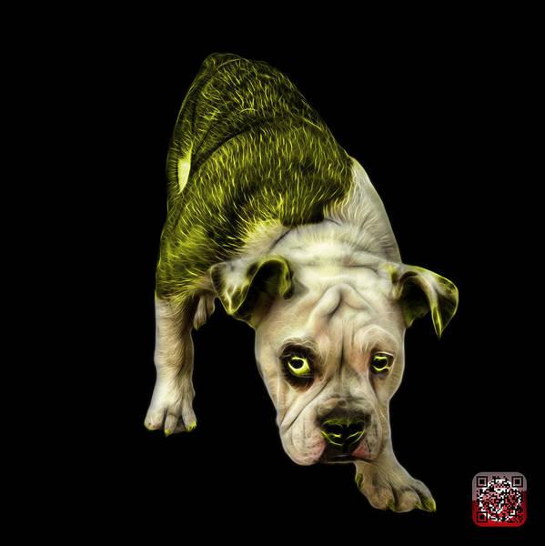 Painting - Yellow English Bulldog Dog Art - 1368 - Bb by James Ahn