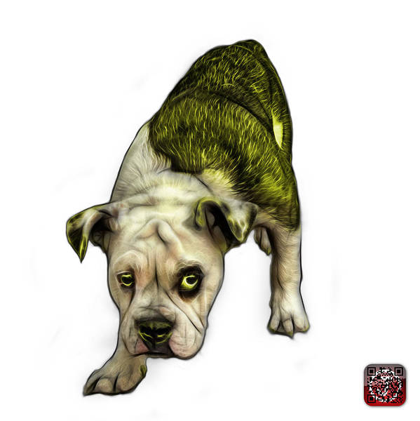 Painting - Yellow English Bulldog Dog Art - 1368 - Wb by James Ahn