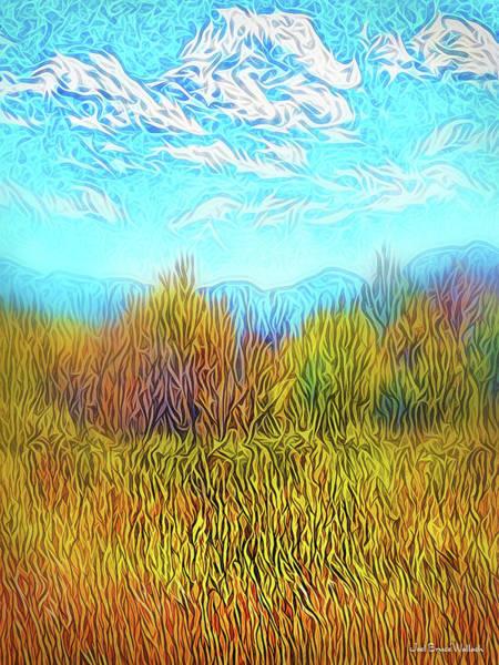Digital Art - Yellow Field Clouds by Joel Bruce Wallach