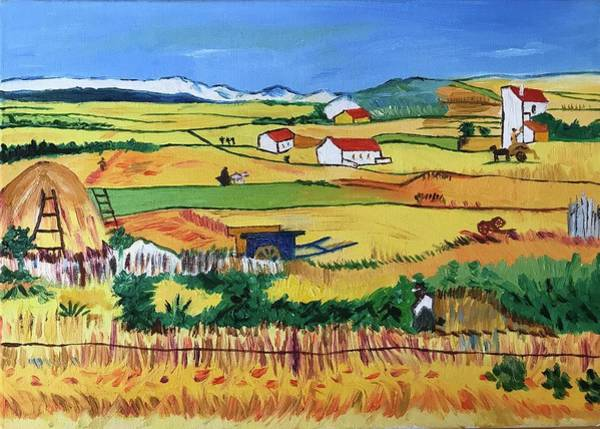 Russian Impressionism Wall Art - Painting - Yellow Fields by Alina Morozova