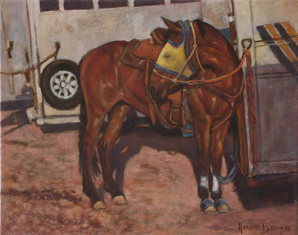 Painting - Yellow Fly Mask by Harvie Brown