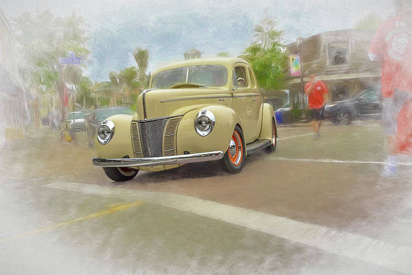 Photograph - Yellow Ford by Bill Posner