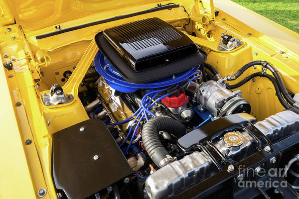 Photograph - Yellow Ford Mustang 05 by Rick Piper Photography