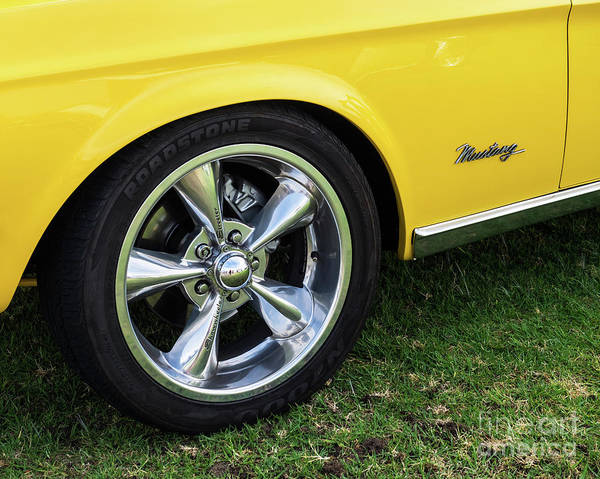 Photograph - Yellow Ford Mustang 07 by Rick Piper Photography