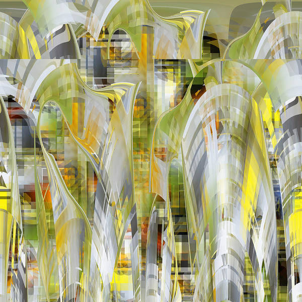 Digital Art - Yellow Glory U041 by rd Erickson