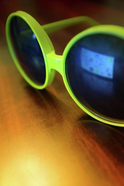 Goggles Wall Art - Photograph - Yellow Goggles With Reflection by Carlos Caetano