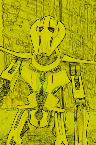 Galactic Empire Photograph - Yellow Grievous by Modern Art