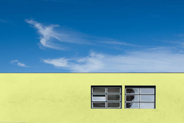 Blue Sky Photograph - Yellow by Hilde Ghesquiere