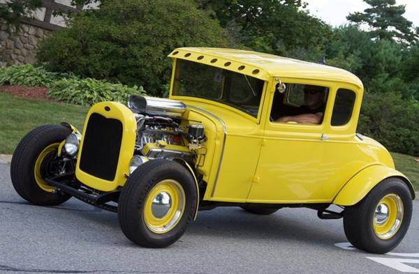 Photograph - Yellow Hot Rod by Chris Alberding