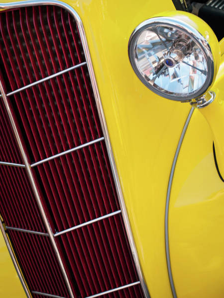 Photograph - Yellow Hot Rod by Stewart Helberg