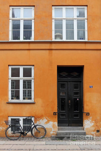 Photograph - The Orange House Copenhagen Denmark by Julia Gavin