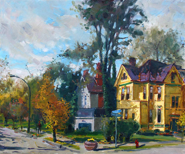 Wall Art - Painting - Yellow House by Ylli Haruni