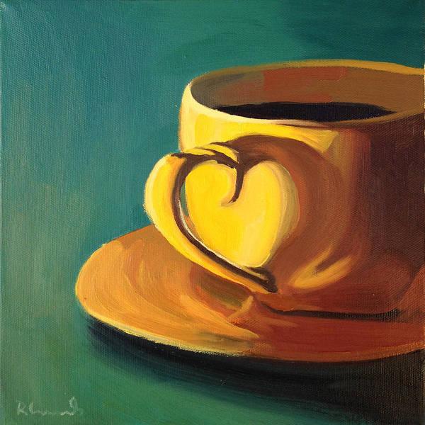 Mocha Painting - Yellow Java by Nathan Rhoads