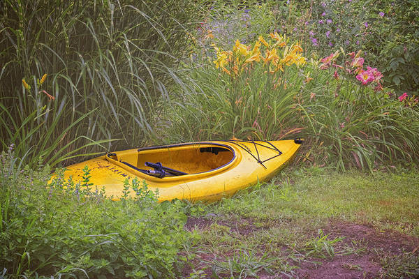 Photograph - Yellow Kayak by Tom Singleton