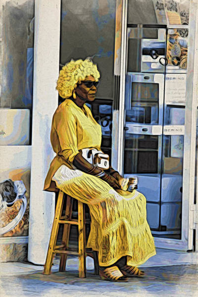 Wall Art - Photograph - Yellow Lady Waiting by Alice Gipson