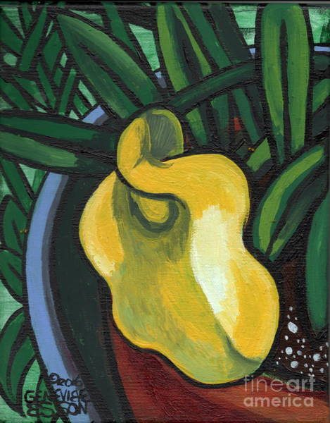 Wall Art - Painting - Yellow Lily by Genevieve Esson