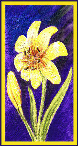 Wall Art - Painting - Yellow Lily by Irina Sztukowski