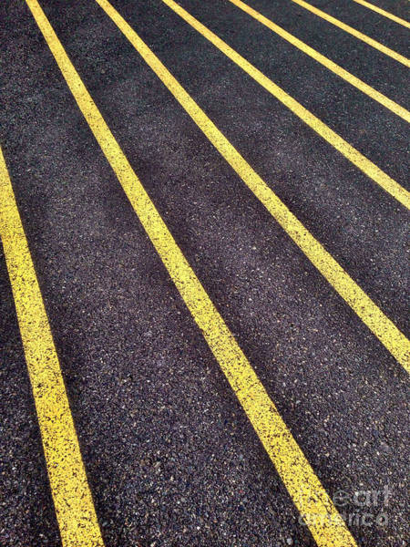 Photograph - Yellow Lines On Athletic Running Track by Bryan Mullennix