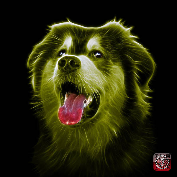 Painting - Yellow Malamute Dog Art - 6536 - Bb by James Ahn
