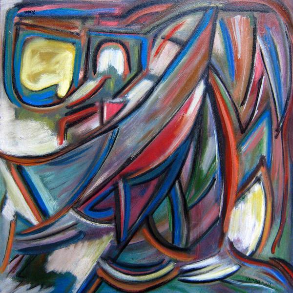Painting - Yellow Mitten by Katt Yanda