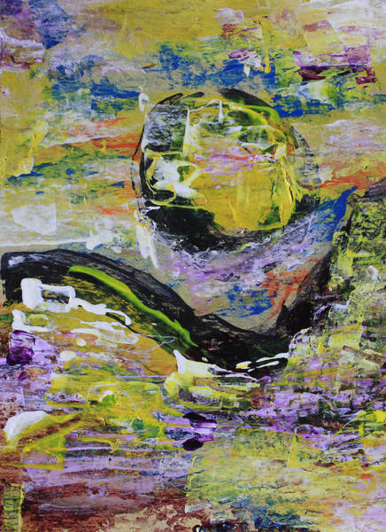 Painting - Yellow Moon Abstract by April Burton