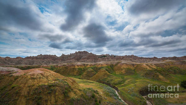 Mound Photograph - Yellow Mounds At Badlands Np by Michael Ver Sprill