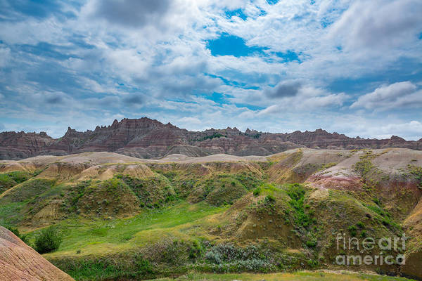 Badlands Photograph - Yellow Mounds Of Badlands Np by Michael Ver Sprill