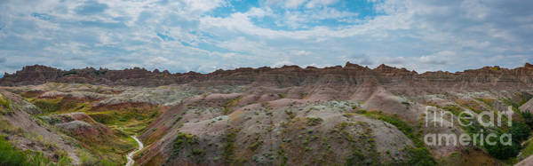 Mound Photograph - Yellow Mounds Panorama At Badlands South Dakota by Michael Ver Sprill