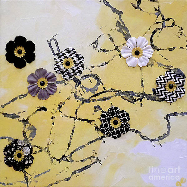 Recycle Painting - Yellow N Yarn by Jilian Cramb - AMothersFineArt