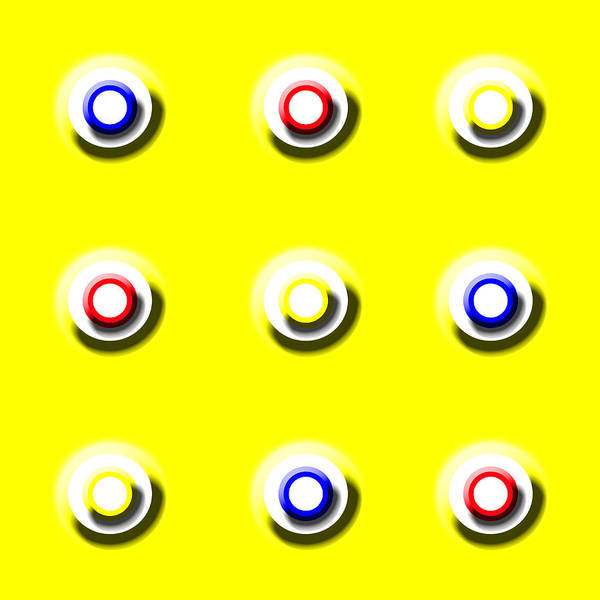 Yellow Nine Squared Art Print