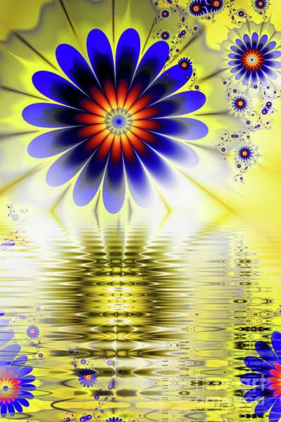 Broken Digital Art - Yellow Nova by John Edwards