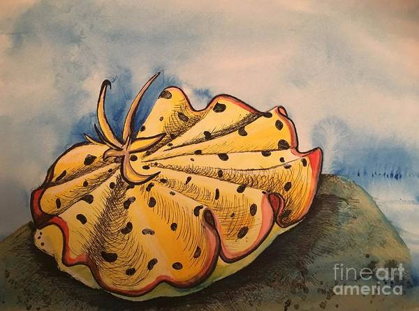 Painting - Yellow Nudibranch by Mastiff Studios