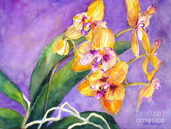 Painting - Yellow Orchids by Betty M M Wong